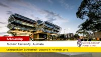 John Swan Honours International Scholarship in Australia, 2019