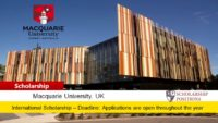 Macquarie University European Scholarship in Australia, 2019-2020