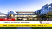 Ngau Boon Keat Postgraduate Scholarship in Mechanical Engineering in New Zealand, 2019