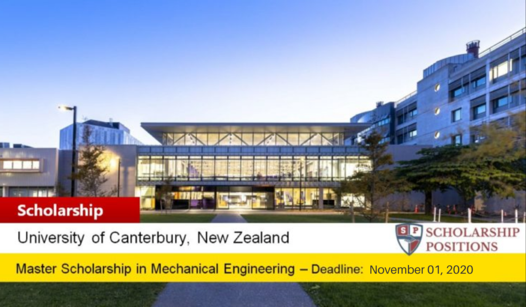 Ngau Boon Keat Postgraduate Scholarship in Mechanical Engineering in New Zealand, 2021