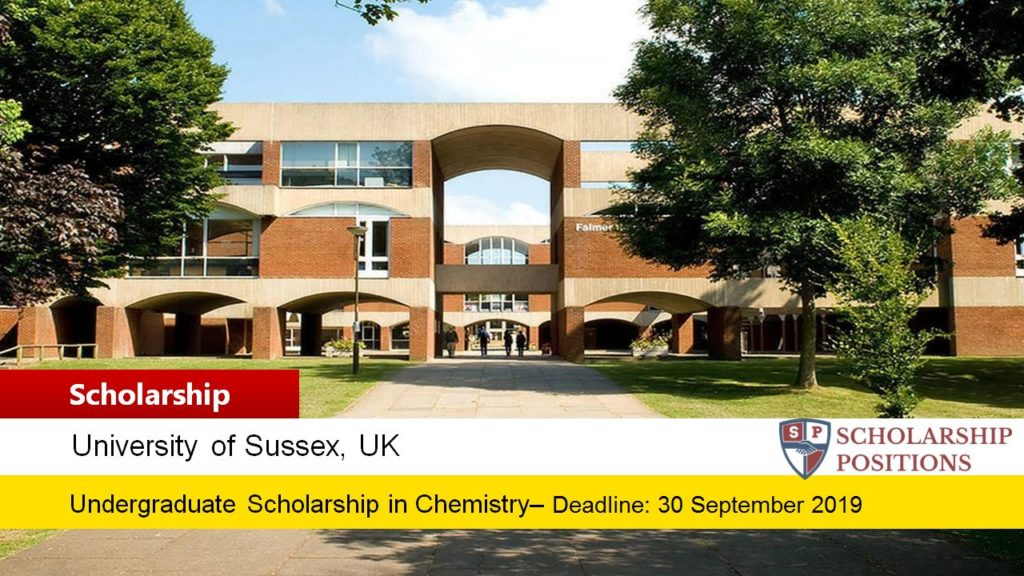 Professor Colin Eaborn Chemistry funding for International Students in the UK, 2019