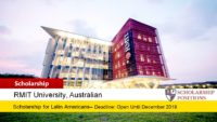 RMIT English Language Bursary for Latin American students in Australia, 2019