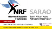 SARAO Undergraduate and Honours Block Grants Programme in South Africa, 2019