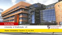 Strathclyde Business School International masters programmes in UK, 2019