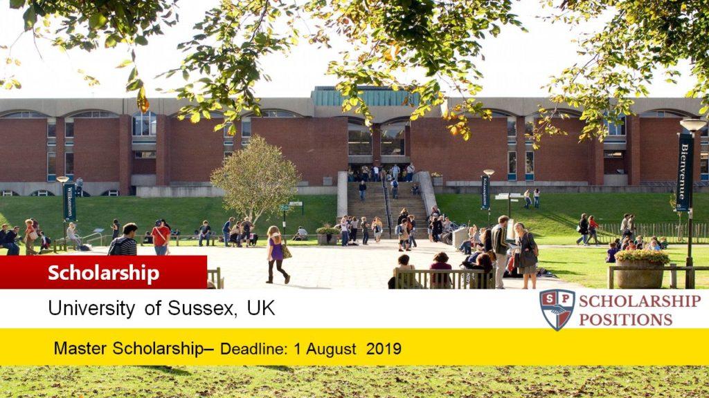 Sussex Nigeria Postgraduate Scholarship in the UK, 2019