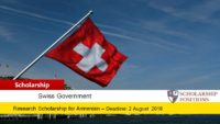 Swiss Government Partnering for Excellence Scholarships, 2020-2021