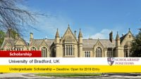 University of Bradford Academic Excellence Scholarships for EU Students in UK, 2019