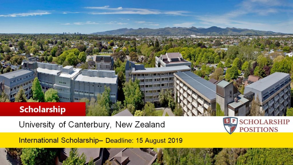 University of Canterbury Alumni funding for International Students in New Zealand, 2019