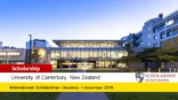 University of Canterbury Robert Bell Travelling Scholarship in Journalism for International Students