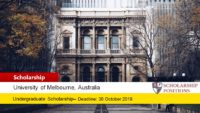University of Melbourne Bachelor of Arts International Scholarship in Australia, 2020