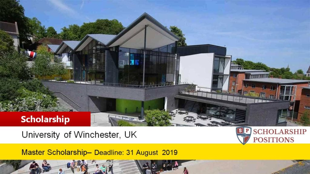 University of Winchester International Taught masters programme in UK, 2019