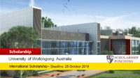 University of Wollongong Diplomat funding for International Students, 2019