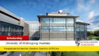 University of Wollongong Postgraduate Academic Excellence International Scholarship