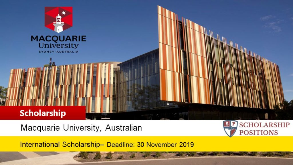 VCIS - Global Allianz Fund Assistance Scholarship at Macquarie University in Australia, 2020