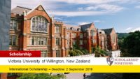 Victoria Tangiwai funding for International Students in New Zealand, 2019