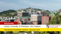 Victoria University of Wellington Study Abroad Scholarship in New Zealand