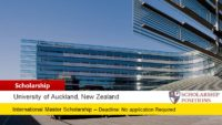 Auckland Master of Health Leadership International Student Scholarships in New Zealand