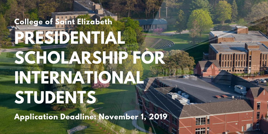 College of Saint Elizabeth Presidential funding for International Students in the US