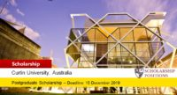 Curtin International Alumni & Family Scholarship in Australia, 2019