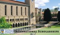 Global Excellence International Scholarship at University of Western in Australia, 2020
