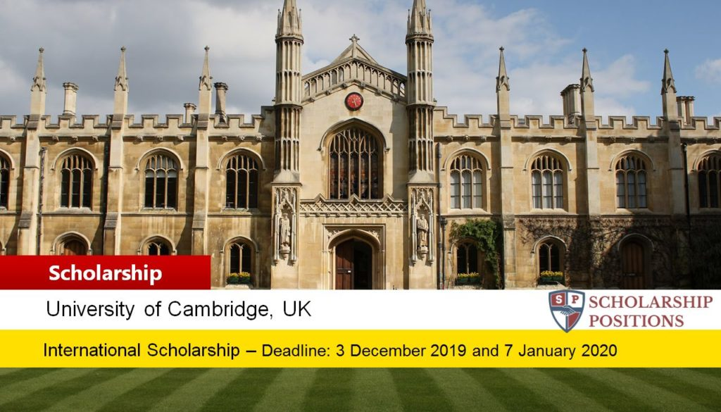Grace and Thomas C. H. Chan Scholarships Fund International PhD Scholarship in UK