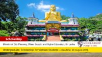Granting undergraduate financial aid for Vietnam Students in Sri Lanka, 2019