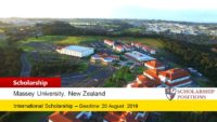 Massey University Academy of Sport International Scholarship in New Zealand, 2019