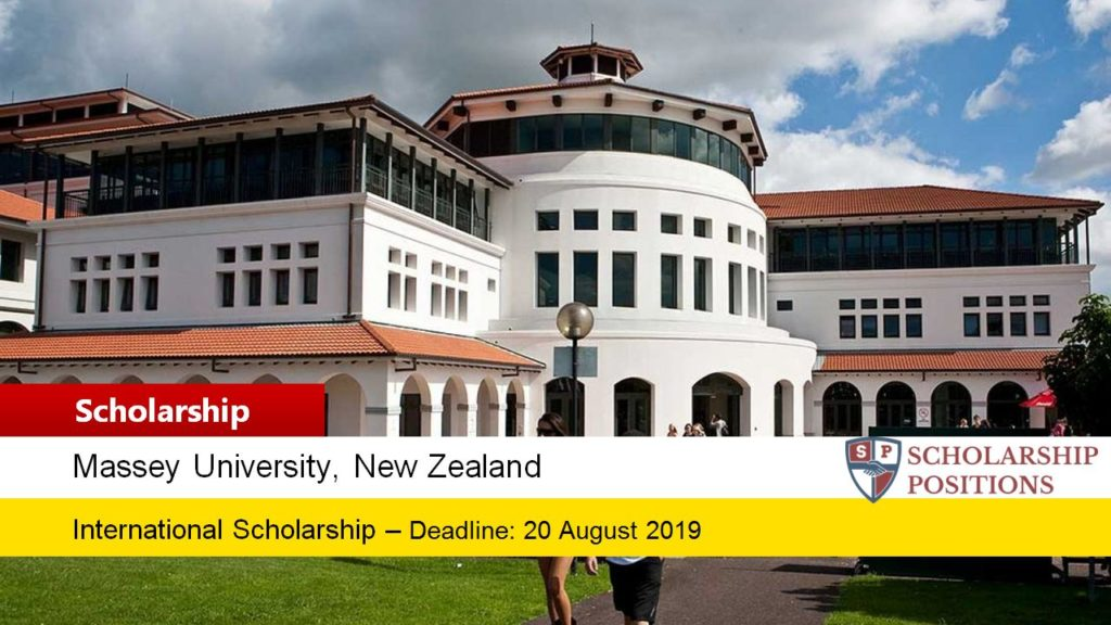 Massey University Vice Chancellor's Excellence Scholarship in New Zealand