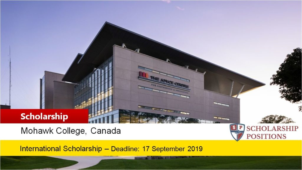 Mohawk College International Entrance Scholarships In Canada 2019