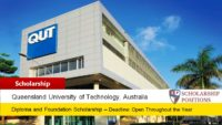 QUT International College Pathway Scholarship in Australia, 2019-2020