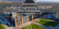 Swansea University College of Engineering PhD funding for UK and EU Students, 2020