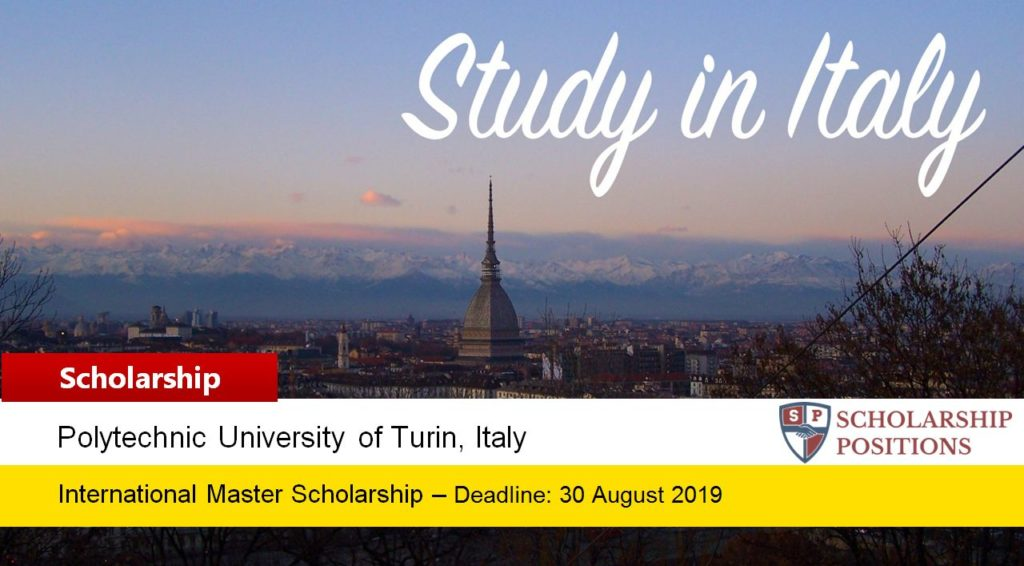TOPOLITO masters programmes at the Polytechnic University of Turin in Italy, 2019-2020