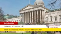 The University of London Huguenot funding for International Students in UK, 2019