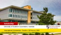 USQ Subcontinent International Tuition Fee Scholarship in Australia, 2020