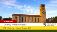 UWA Dean's Excellence in FABLE PhD Positionsin Australia, 2020