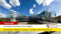 University of Auckland International Student Excellence Scholarship in New Zealand