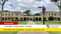 University of Queensland International PhD HydroFloat Project Scholarship in Australia