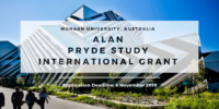 Alan Pryde Study Grant for International Students at Monash University in Australia, 2020
