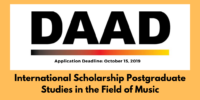 DAAD Postgraduate Studies in the Field of Music for International Students in Germany