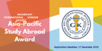 Golden Key Asia-Pacific Study Abroad Award Program 2020