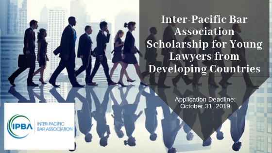 Inter-Pacific Bar Association funding for Young Lawyers from Developing Countries