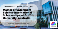 Master of Catchment Science international awards at Griffith University, Australia