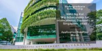SMU Ng Kai Wa funding for International Students in Singapore, 2020