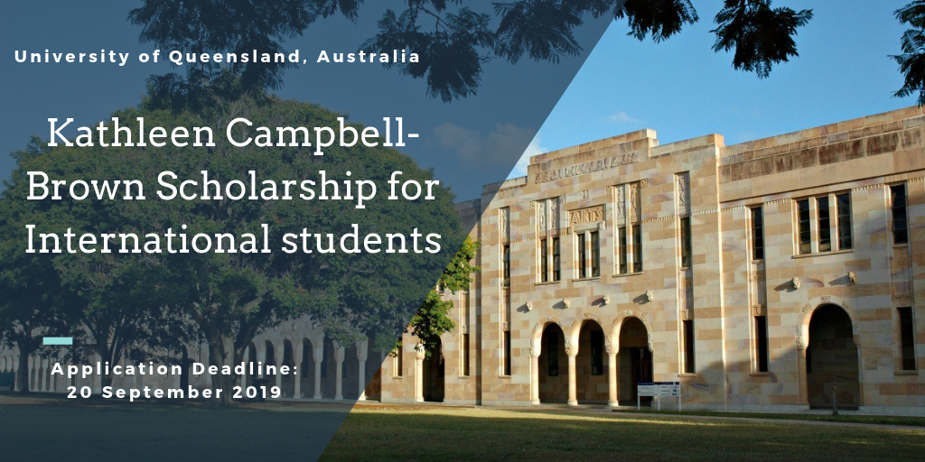 UQ Kathleen Campbell-Brown funding for Domestic and International students in Australia