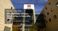 UTAS Bachelor of Laws Scholarships in Australia, 2020