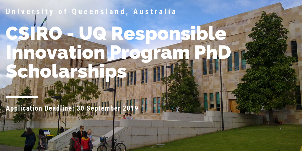 University of Queensland CSIRO PhD Positionsfor International students in Australia