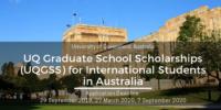 University of Queensland Graduate School Scholarships (UQGSS) for International Students in Australia