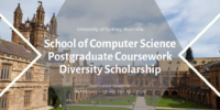 University of Sydney School of Computer Science Postgraduate Coursework Diversity Scholarship