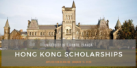University of Toronto Hong Kong Scholarships in Canada, 2020