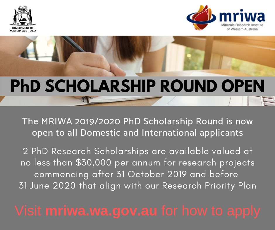 Western Australian Government Minerals Research Institute's International PhD programme